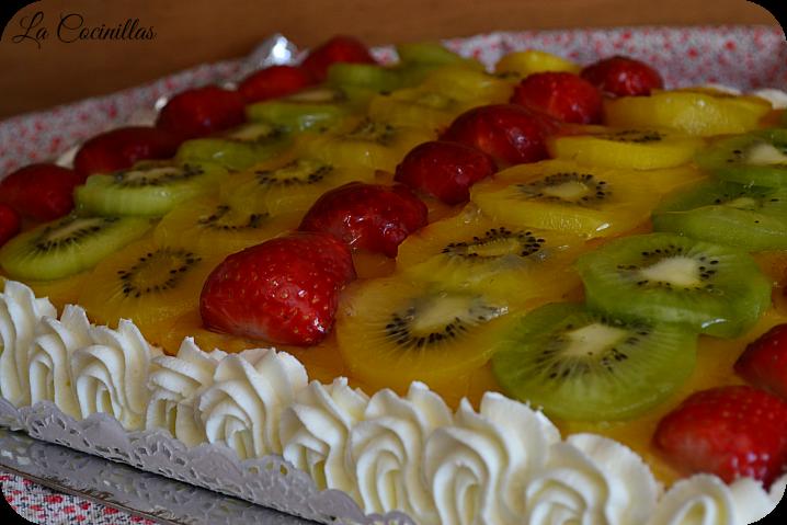 La Cocinillas Tarta De Frutas Con Crema Pastelera Y Yema Tostada