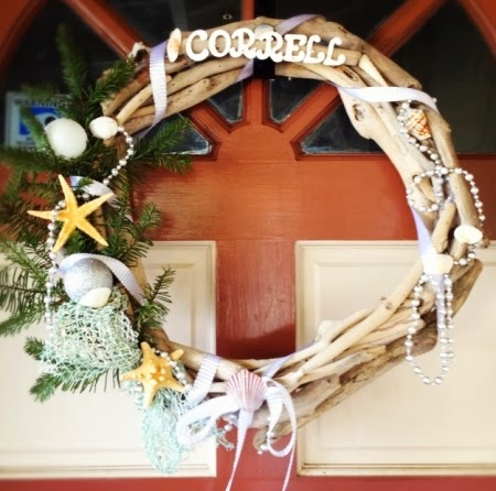 driftwood beach wreath
