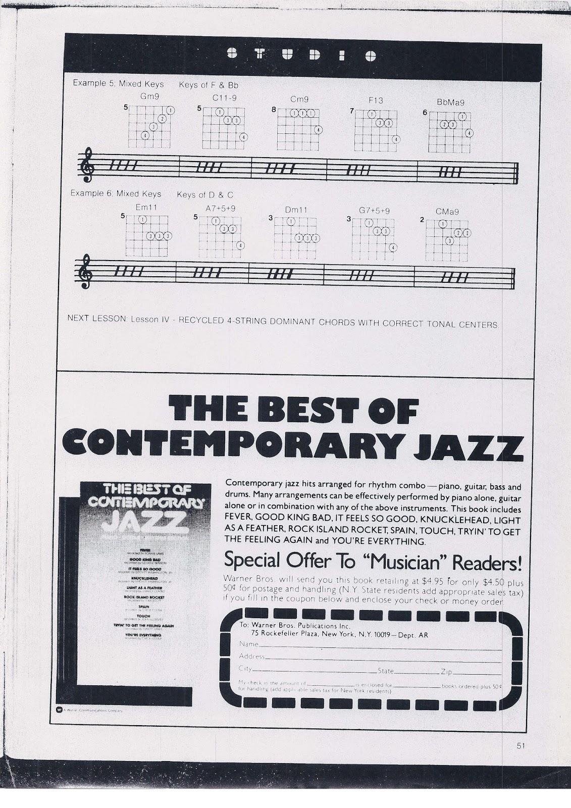 Piano, Guitar, Bass and Ukulele Jazz Theory Musings: 2013