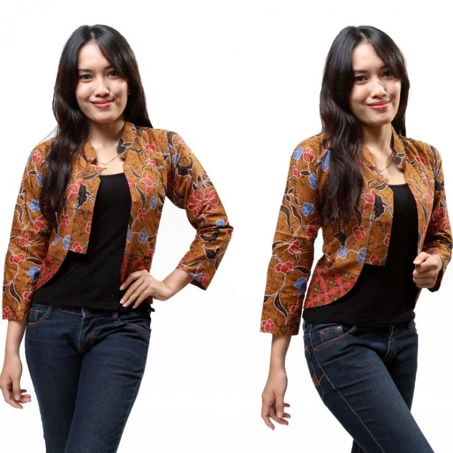 Macam Model Baju Batik: 15+ Model Baju Batik Kombinasi Bolero Terbaru 2018