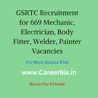 GSRTC Recruitment for 669 Mechanic, Electrician, Body Fitter, Welder, Painter Vacancies