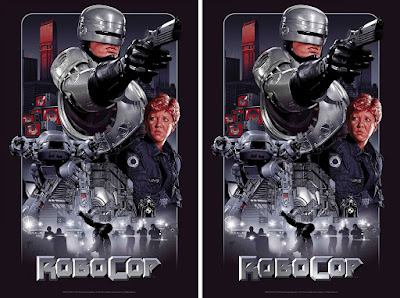 Robocop Screen Print by Ruiz Burgos x Grey Matter Art