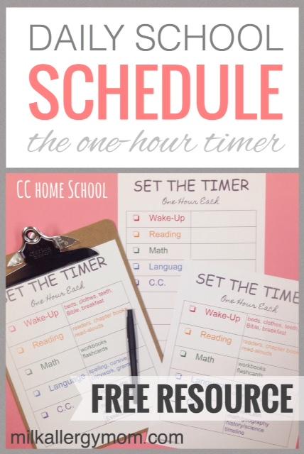 Set The Timer Home School Schedule