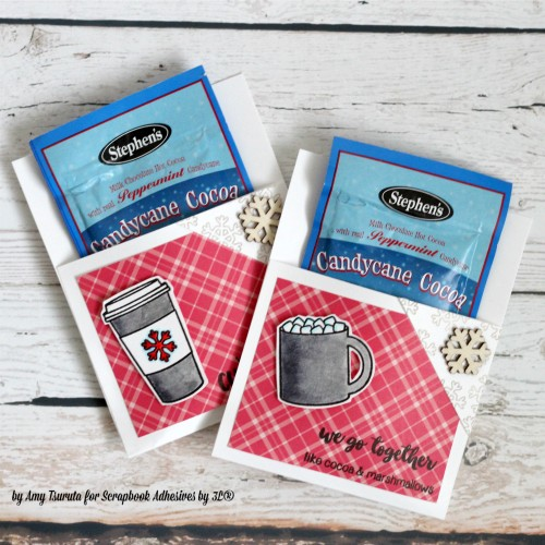 Sunny Studio Stamps: Mug Hugs Hot Cocoa Pockets by Amy Tsuruta