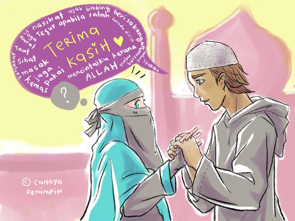 Kartun Muslimah Tentang Cinta Kolek Gambar