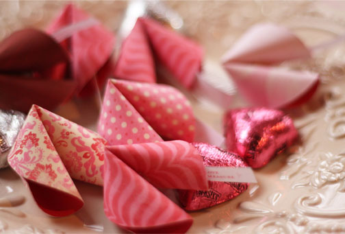 Valentine S Fortunes These Lil Paper Fortune Cookies Are Adorable Aren T They And Have So Many Potential Uses You Can Give Them Away To Friends