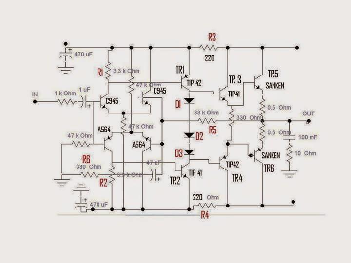 cara modifikasi power amplifier driver daya simetris ulbe ulasan lengkap belajar elektronika. Black Bedroom Furniture Sets. Home Design Ideas