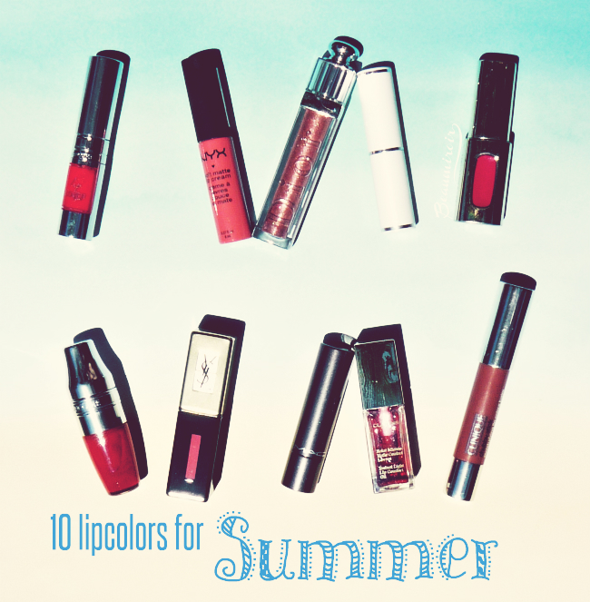 10 best lipsticks and lipglosses for summer!