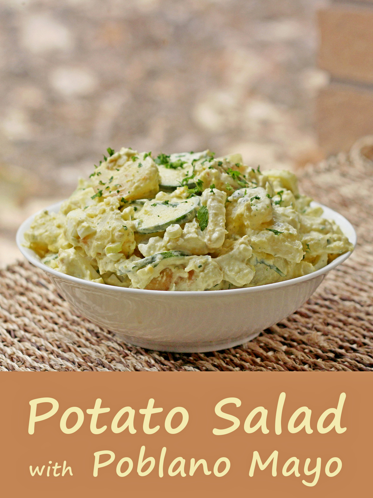 Idaho potato salad with poblano mayo