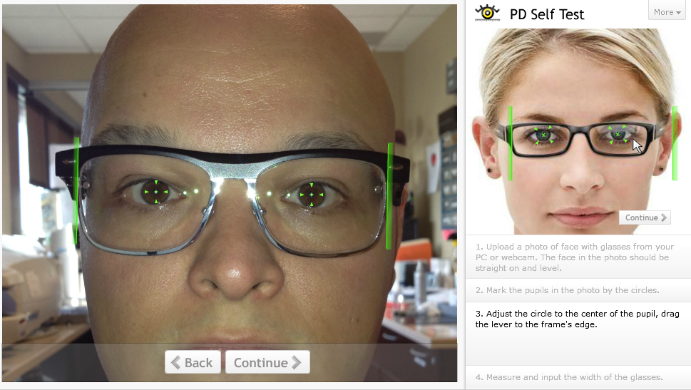 e251386527 This uses you own current glasses as the reference device. You just measure  the size of the glasses and highlight your pupils in the image using their  slick ...