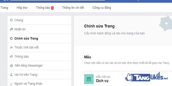 Tao cua hang tren fanpage 1