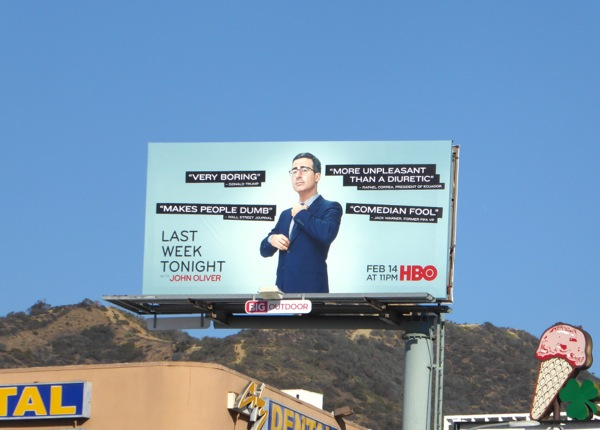 Last Week Tonight season 3 billboard