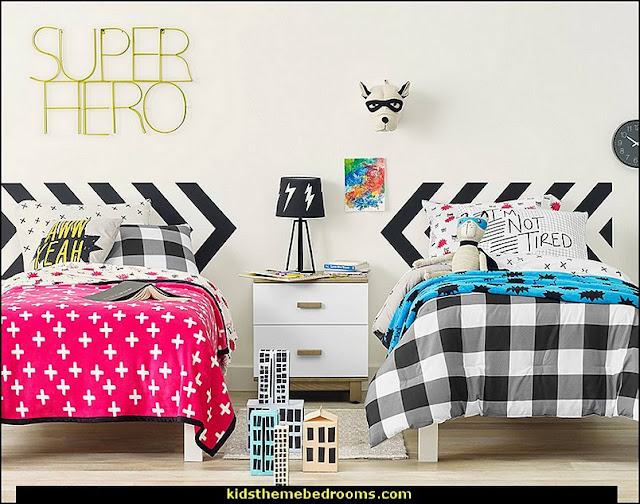 Hero's Hideout Bedroom Collection    Superheroes bedroom ideas