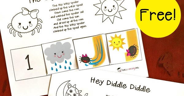 picture about Free Printable Nursery Rhymes known as No cost Nursery Rhymes Sequencing Printables Totschooling
