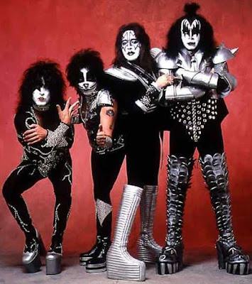 Foto de la Banda Kiss en sesión fotográfica