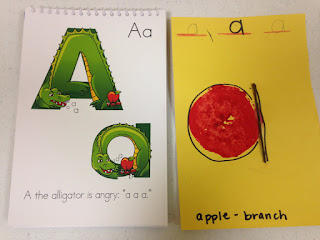teaching letter a in preschool