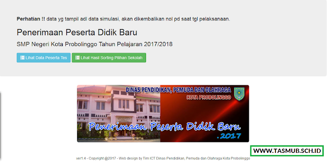 PPDB Online SMPN Se-Kota Probolinggo