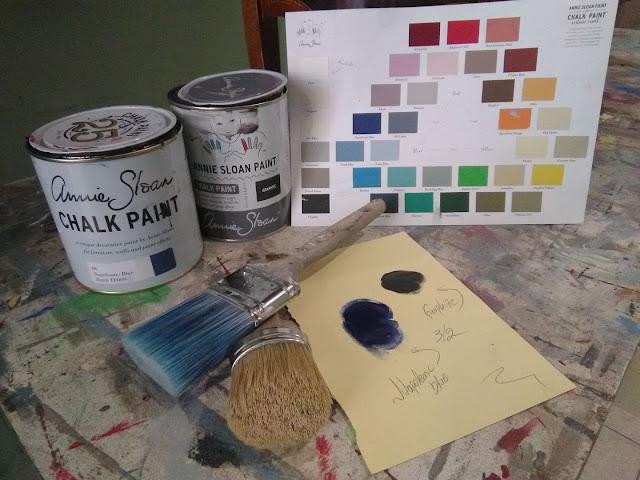 """Η κονσόλα του """"Jackson Pollock"""" 6 Annie Sloan Greece"""