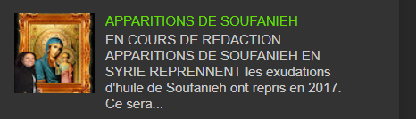 APPARITIONS DE SOUFANIEH