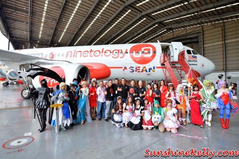 Ninetology Qualcomm AirAsia Aircraft Livery, ninetology aircraft, ninetology u9J1, so wow for all, cosplay, ninetology, airasia aircraft