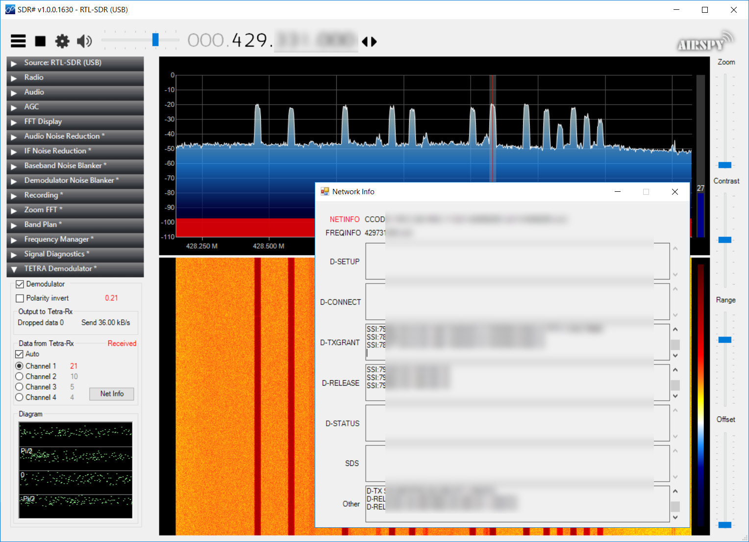 Tetra decoding plugin for SDR# | My Technical blog