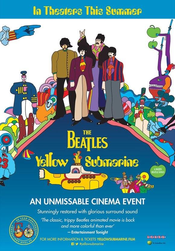 Le film d'animation des Beatles «Yellow Submarine» projeté au cinéma