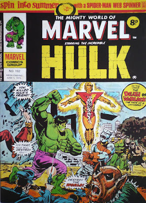 Mighty World of Marvel #192, the first death of Adam Warlock