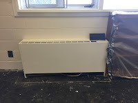picture of newly painted heating unit
