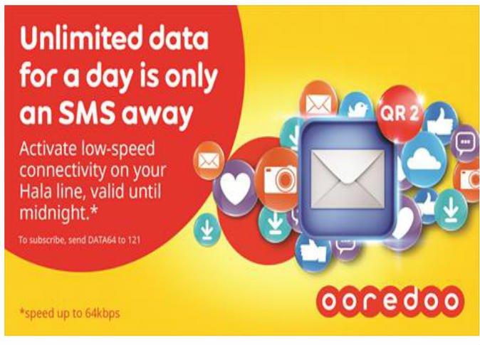 الاشتراك فى باقات البيانات الجديدة من أوريدو قطر - موقع فونك