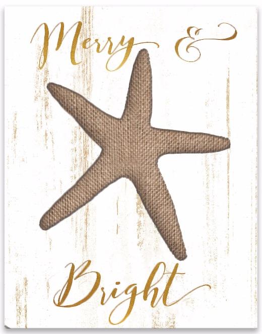 Christmas Starfish Wall Art