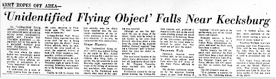 'Unidentified Flying Object' Falls Near Kecksburg - Tribune-Review, The 12-10-1965