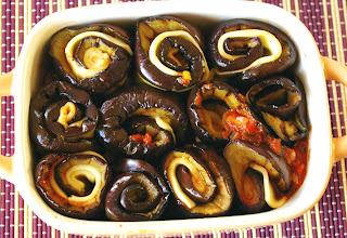 roladki z bakłażana i mozzarelli