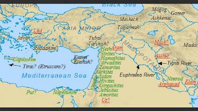 O mapa das nações