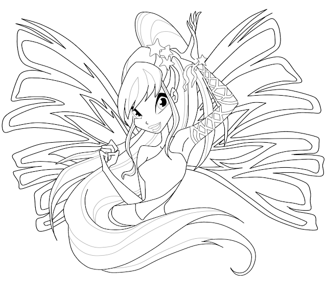 Winx Club Bloom Bloomix Coloring Pages – Colorings.net