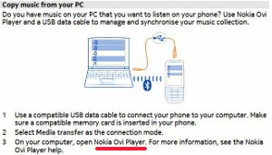 how to copy music from PC to Nokia 300 guide