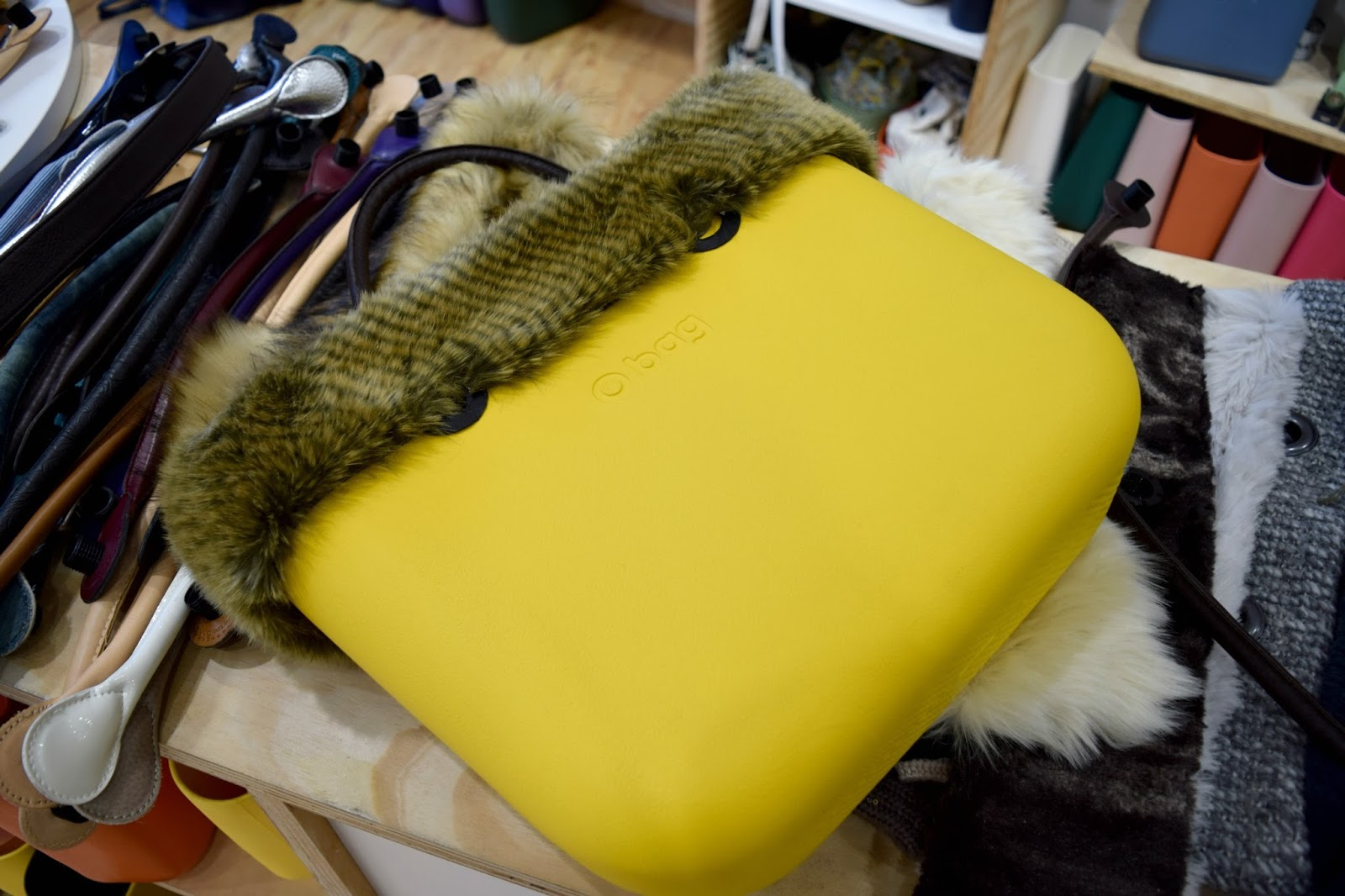 Bright yellow O Bag handbag