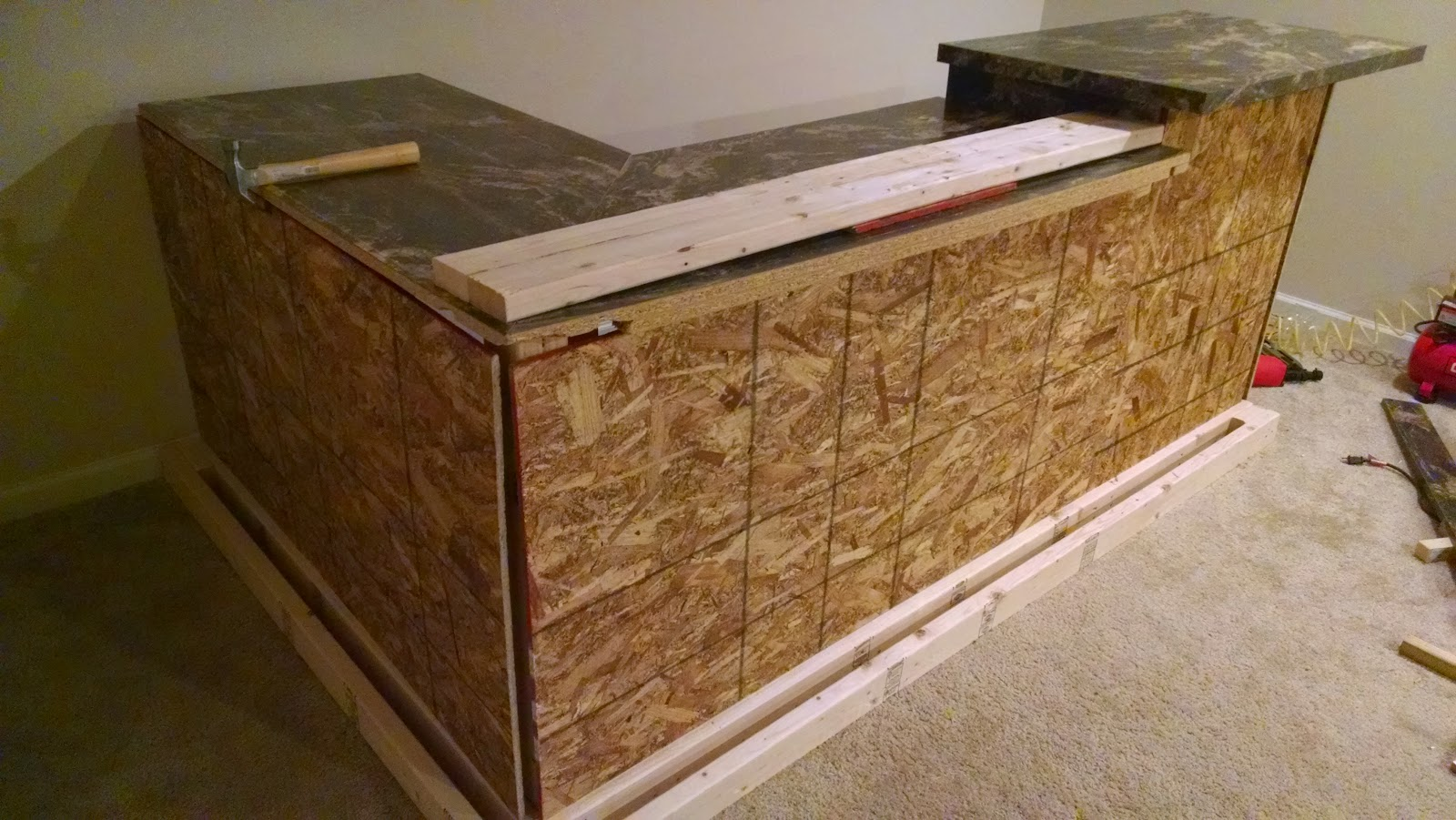 Road To The Ravenna Diy Custom Bar With Stone Accent