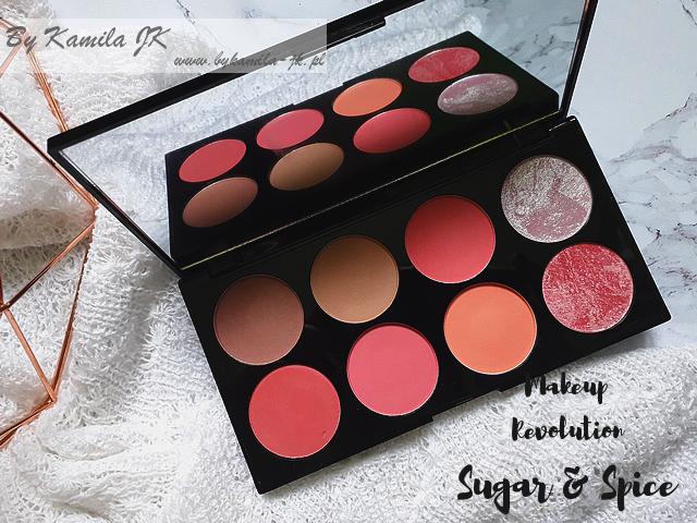 Makeup Revolution paletki różów Blush Palette Sugar & Spice