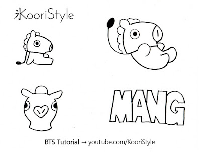 Koori Style, KooriStyle, BTS, BT21, Mang, Jhope, Hoseok, Pin, Brooch, Broche, Felt, DIY, Tutorial, Make, Easy, Cute, Kpop, Facil, Fieltro, Plantilla, Printable, Gift, Regalo