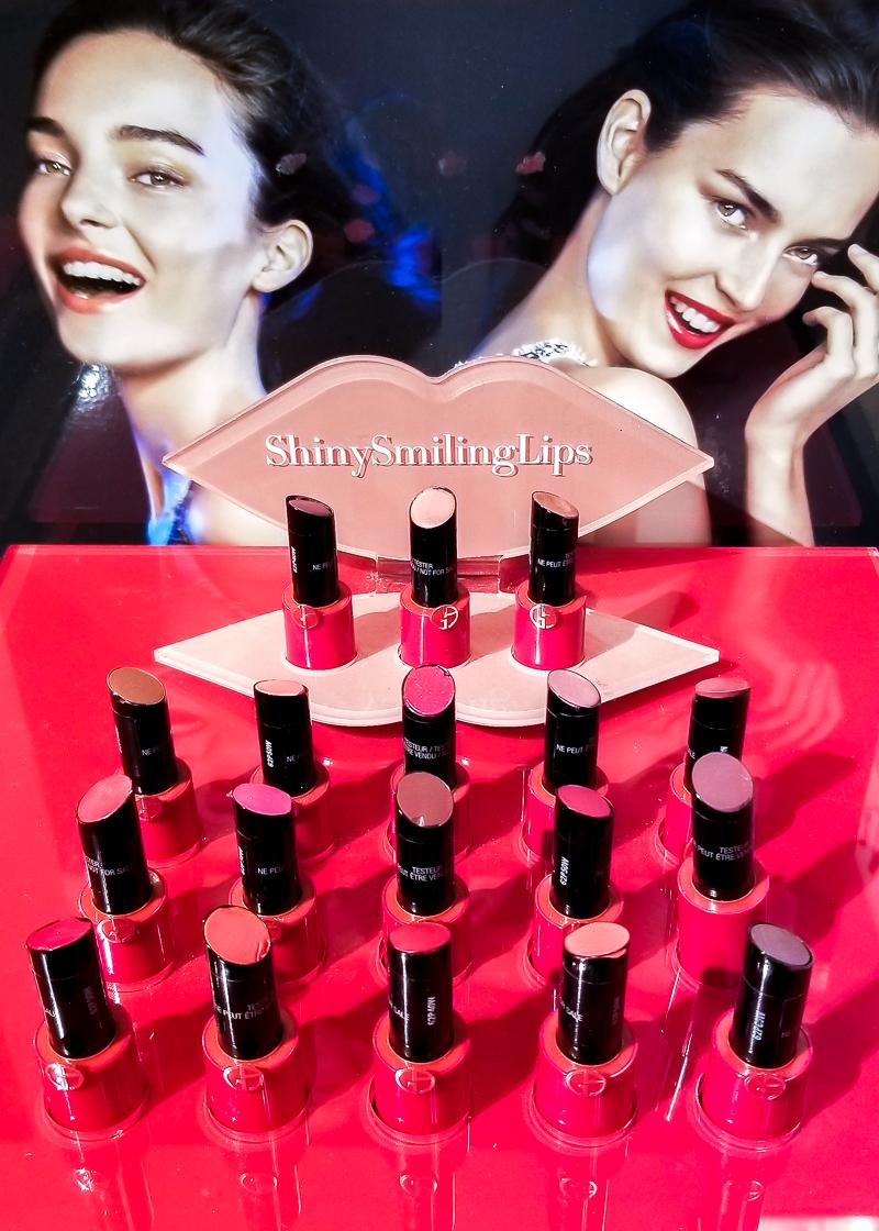 Giorgio Armani Ecstasy Shine Lipsticks - Swatches