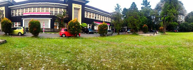 Panorama view musim salju di Kota Bogor.
