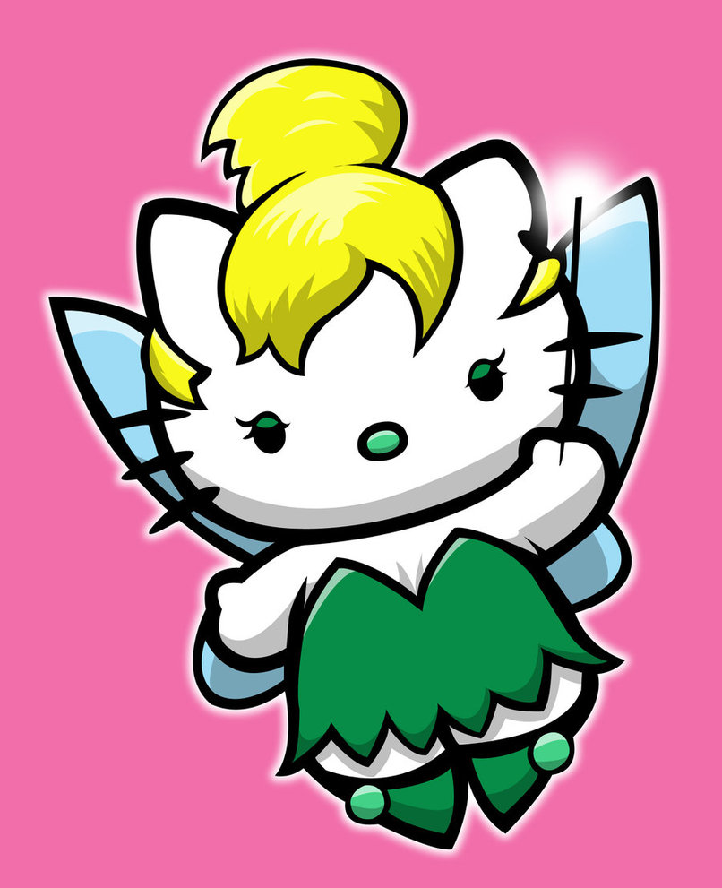 Hello Kitty in Tinkerbell costume