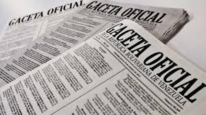 Véase SUMARIO Gaceta Oficial Nº 41.619 24 de abril de 2019