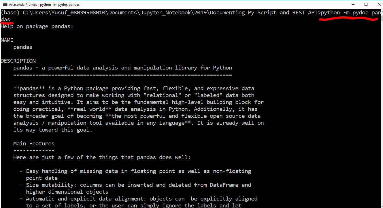 Geospatial Solutions Expert: Documenting a python script and