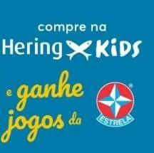 Promoção Hering Kids Compre Ganhe Jogos Estrela Maio 2019 - Mês do Brincar
