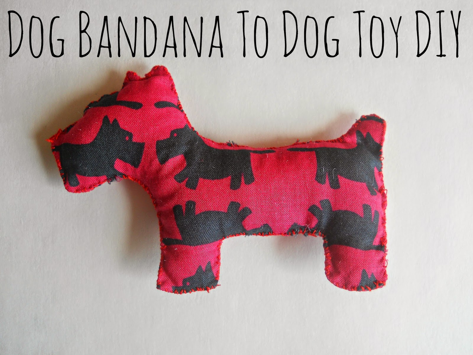 Dog Bandana To Dog Toy Diy Running With A Glue Gun