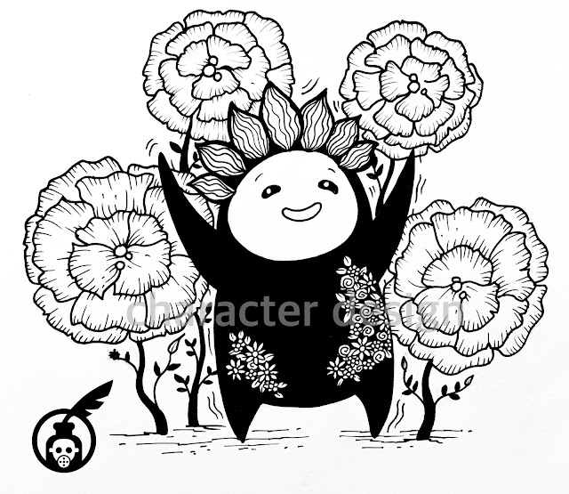 Flower Person Illustrations Photo