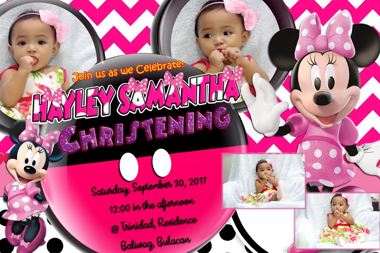 minnie mouse sample invitation design