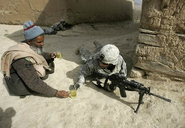 Afghan And US Soldier