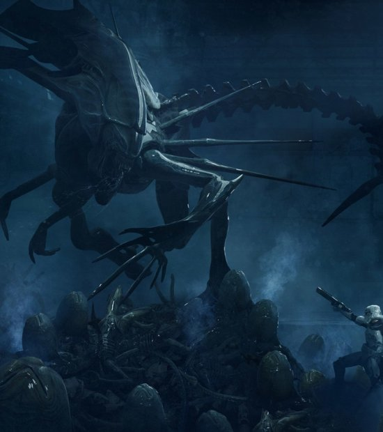 Guillem H. Pongiluppi artstation ilustrações filmes fantasia ficção sombrio terror crossover star wars aliens